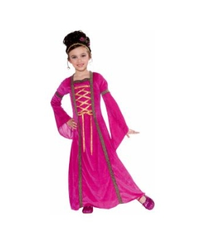Pink Velvet Princess Juliet Girl Costume