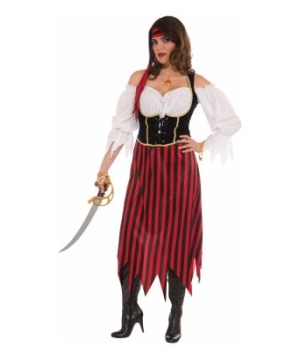 Pirate Maiden Adult plus Costume