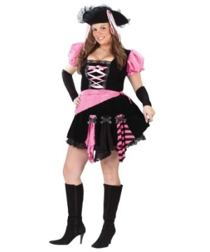 Pirate Pink Punk plus Adult Costume