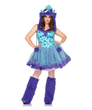 Polka Dotty Monster plus size Adult Costume