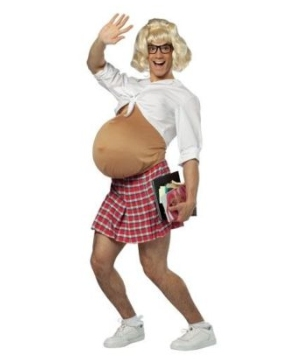 Pregnant School Girl Adult Costume