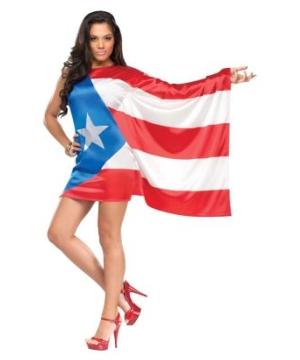 Puerto Rican Pride Women Costume