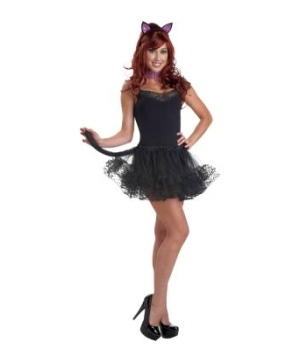 Purple Kitty Womens Costume Kit