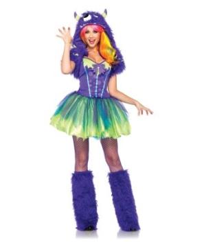 Purple Posh Monster Womens Costume