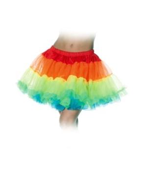 Rainbow Petticoat Adult Tutu