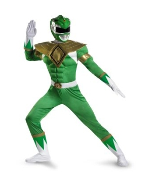 Ranger Muscle Men Costume Green