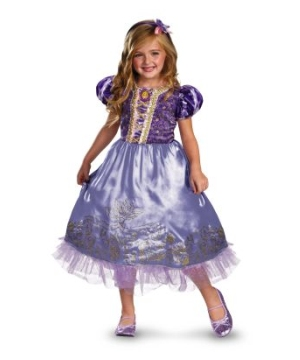 Tangled Rapunzel Sparkle Disney Girls Costume deluxe