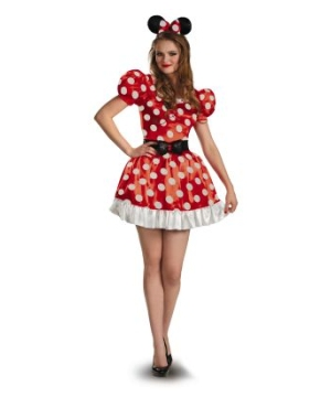 Red Minnie Mouse Classic Adult Disney Costume