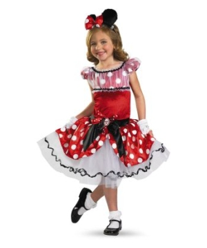 Red Minnie Tutu Kids Disney Costume Prestige