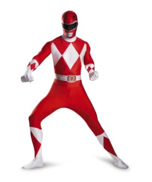 Red Power Ranger Kids/ Teen Costume deluxe