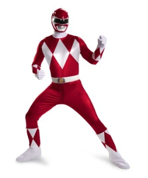 Red Ranger plus size Men Costume Super deluxe