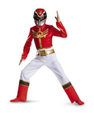 Red Power Ranger Megaforce Boys Costume