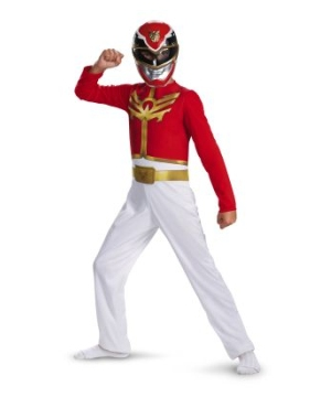 Red Power Ranger Megaforce Boy Costume