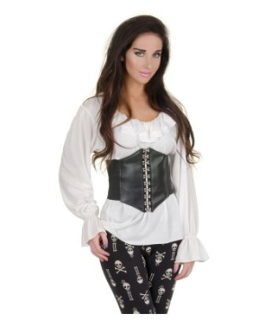 White Renaissance Blouse Adult Costume