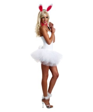 White Lace Bunny Womens Costume Kit
