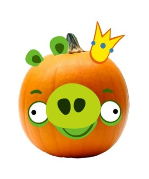 Rovio Angry Birds King Pig Pumpkin Push Ins