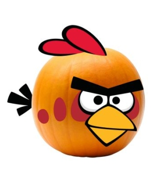 Rovio Angry Birds Red Bird Pumpkin Push Ins