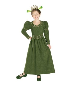 Princess Fiona Girl Costume deluxe