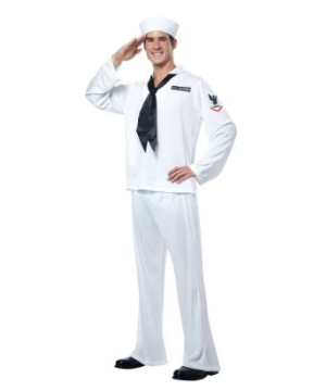 White Sailor Adult Costume