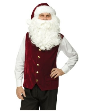 Santa Velvet Vest and Hat Adult Costume