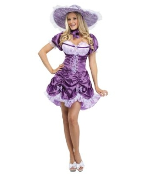 Purple Southern Belle Women Costume