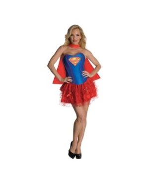 Sexy Supergirl Corset Adult Costume