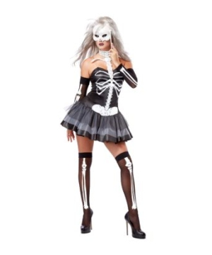 Skeleton Masquerade Women Costume