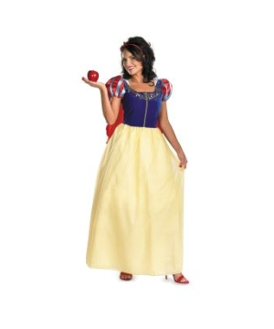 Snow White Adult plus Disney Costume deluxe