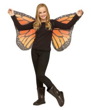 Orange Soft Butterfly Kids Wings