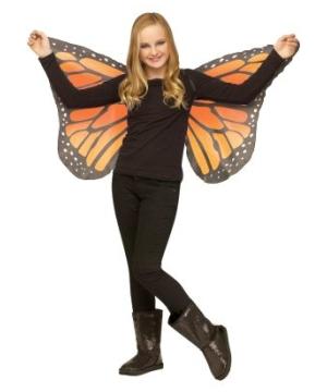 Orange Soft Butterfly Kids Wings