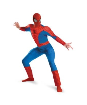 Spider Man Muscle plus size Men Costume deluxe