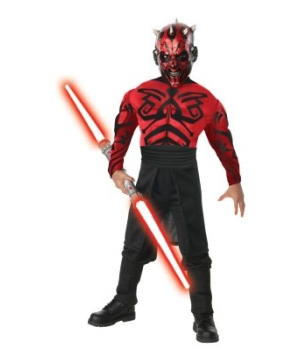 Stars Wars deluxe Muscle Chest Darth Maul Kids Costume