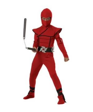 Stealth Ninja Kids Costume Red