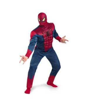 The Amazing Spider Man Classic Muscle Mens Plus Size Costume
