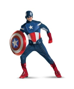 Captain America Costume Men plus size Theatrical
