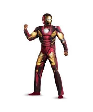 The Avengers Iron Man Mark Vii Muscle plus size Adult Costume
