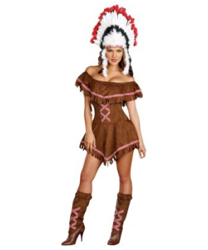 Womens  Teepees Indian Costume