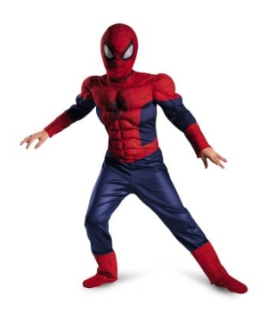 Ultimate Spider Man Classic Muscle Boys Costume