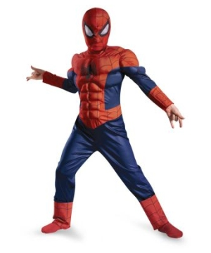 Ultimate Spider Man Muscle Light up Boys Costume