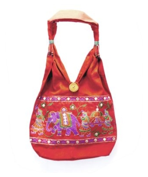 Women's Embroidered Indian Rajasthani Style Tote Handbag