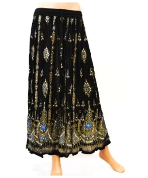 Sequin Embellished Ankle Length Women's Skirt