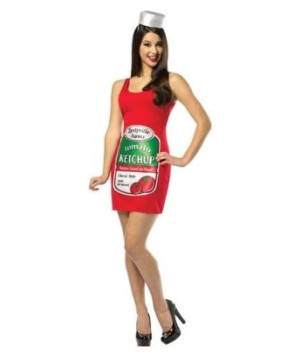 Zestyville Ketchup Tank Dress Adult Costume