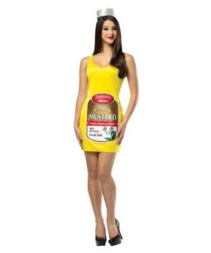 Zestyville Mustard Tank Dress Womens Costume