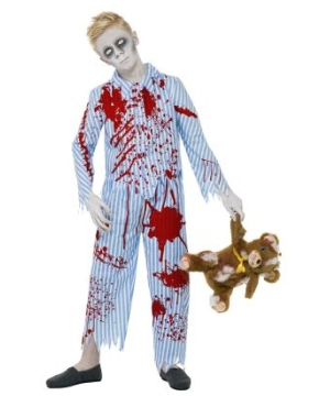 Blue Zombie Pyjama Boys Costume