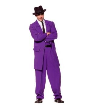 Zoot Suit Men Costume Purple