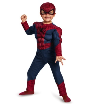 Amazing Spider Man 2 Muscle Toddler Boys Costume