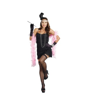 Black Flapper plus size Adult Costume