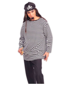 black striped versatile costume