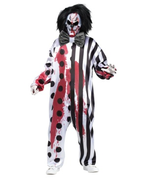Bleeding Mask Killer Clown Mens Costume