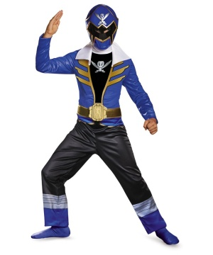Blue Power Ranger Super Megaforce Boys Costume